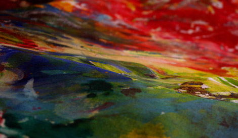 'Landscape' image from a Souvenir d'Anne Frank collaborative painting workshop.